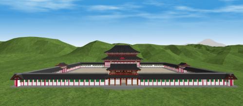 東山から見た方広寺大仏殿