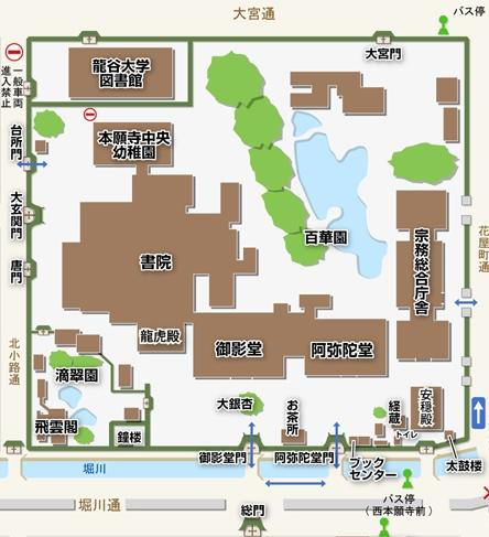 西本願寺境内図
