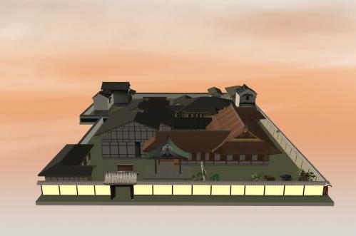 夕暮れの徳大寺邸