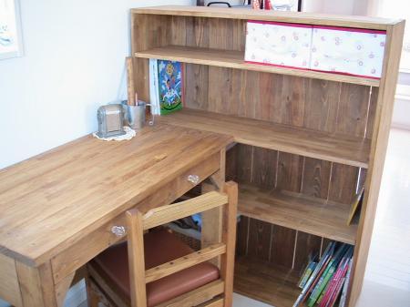 勉強机本棚