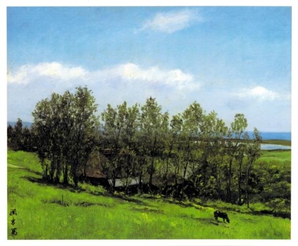 石狩川河口の家