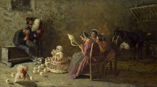 風笛を吹くブリアンツァの男たち