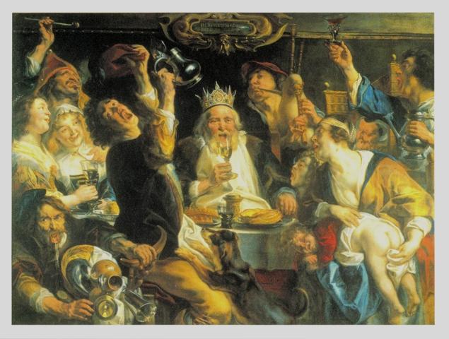 酒を飲む王様