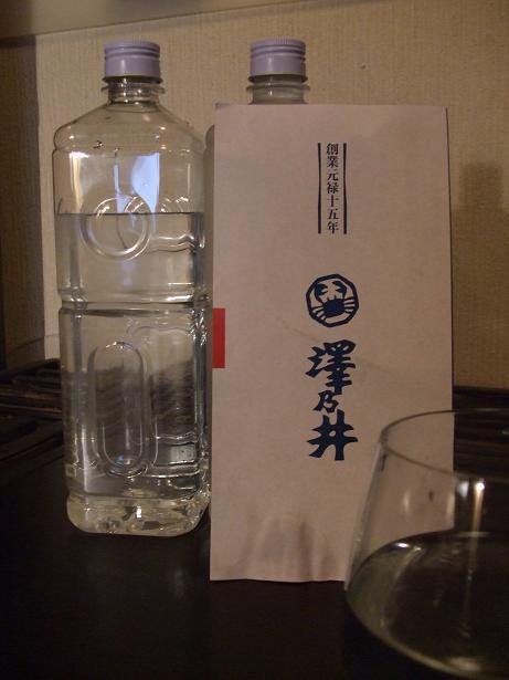 澤乃井仕込水