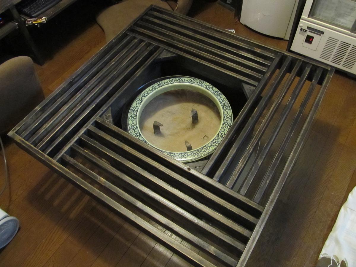 火鉢テーブル改良後