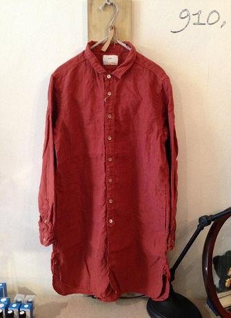 20130928 プリット レンガ色シャツ