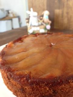 りんごさかさまケーキ
