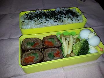牛肉の野菜巻き弁当