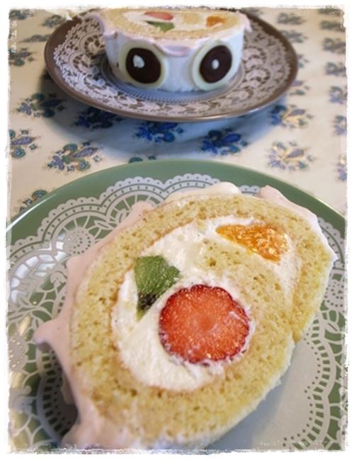 こいのぼりケーキカット