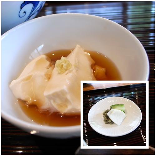 豆腐、漬物