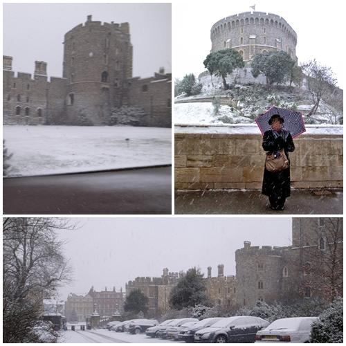 雪のウィンザー城