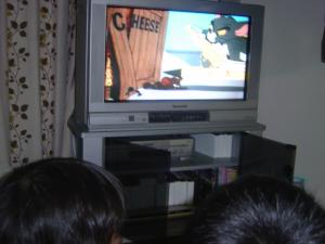 DVDと子どもたち