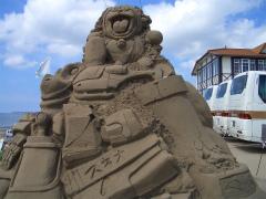 千里浜砂像2011 002