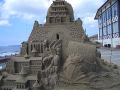 千里浜砂像2011 005