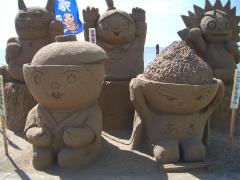 千里浜砂像2011 012