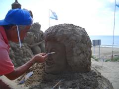 千里浜砂像2011 009