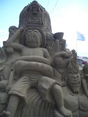 千里浜砂像2011 006