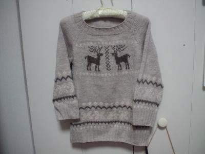 編みこみセーター