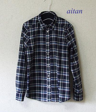 ローンチェックシャツ