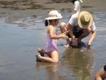 赤ちゃんのほっぺプログ-潮干狩り2