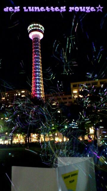 シャボン玉とマリンタワー