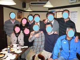 3年3組新年会 30 顔隠す 70