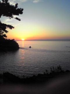 堂ヶ島夕陽