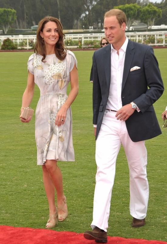 キャサリン妃 ウィリアム王子とポロ・チャリティーマッチに参加