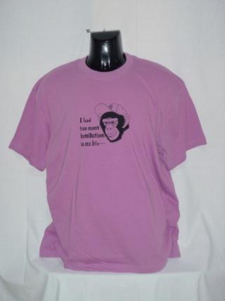 ピンクにブラックプリント