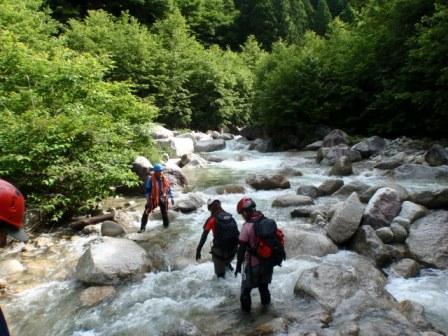 阿木川遡行 09水の流れが速い