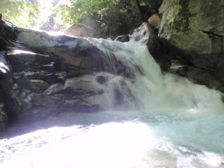 阿木川遡行 20100912滝の様子