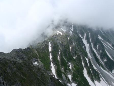 3峰頂上からの吊尾根