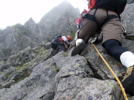 3峰登攀開始