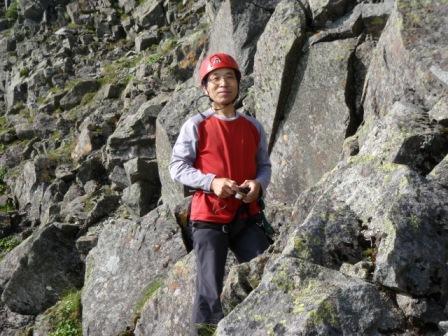 4峰登り手前クララ