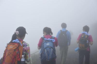 5合目 霧の中