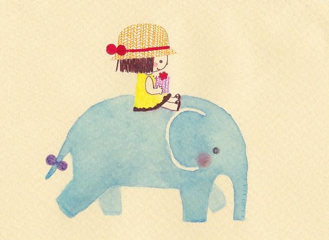 ゾウと女の子