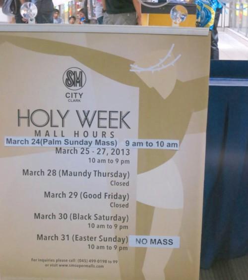 sm holy week2013