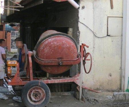 handmade concrete mixer