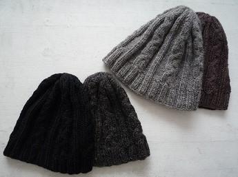 ニット帽4つ