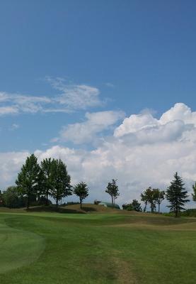 ゴルフ場の空