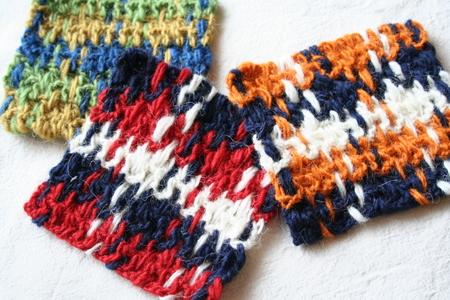 織物コースター