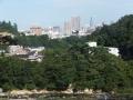 文殊堂付近から見る青葉山と街