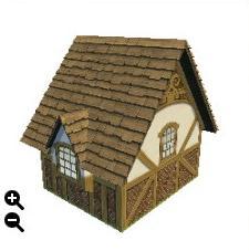 ハウジング_板屋根の煉瓦の家+丸型の板屋根+アーチ型装飾_02