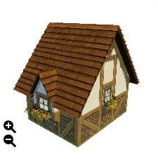 ハウジング_板屋根の煉瓦の家+彫刻模様の板屋根+曲がった屋根_02