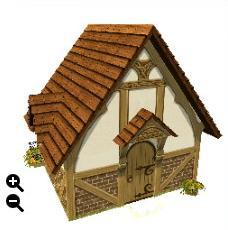 ハウジング_板屋根の煉瓦の家+彫刻模様の板屋根+曲がった屋根_01