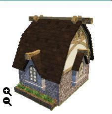 ハウジング_瓦屋根の石の家+楕円形の瓦+四角い荒石_02