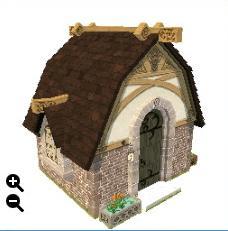 ハウジング_瓦屋根の石の家+楕円形の瓦+四角い荒石_01