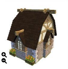 ハウジング_瓦屋根の石の家+蜂の巣模様+整えられた石壁_02