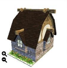 ハウジング_瓦屋根の石の家+細かい瓦屋根+ランダム積み上げ_02