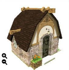 ハウジング_瓦屋根の石の家+細かい瓦屋根+ランダム積み上げ_01